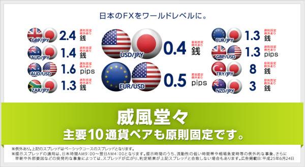 オアンダジャパンは豊富な通貨ペア